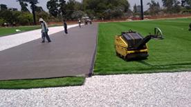 Compactación del Terreno para la construcción de Cancha de Fútbol con grama Sintetica