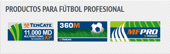 Productos para Fútbol Profesional con grama sintetica